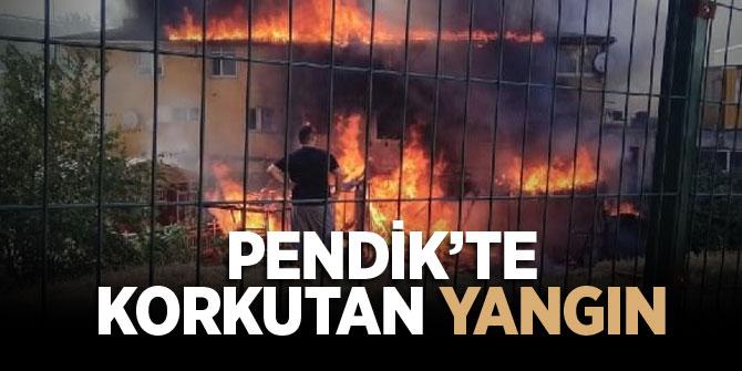 İstanbul Pendik'te korkutan yangın