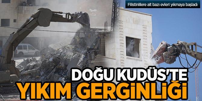 Doğu Kudüs'te yıkım gerginliği! Evleri yıkmaya başladılar