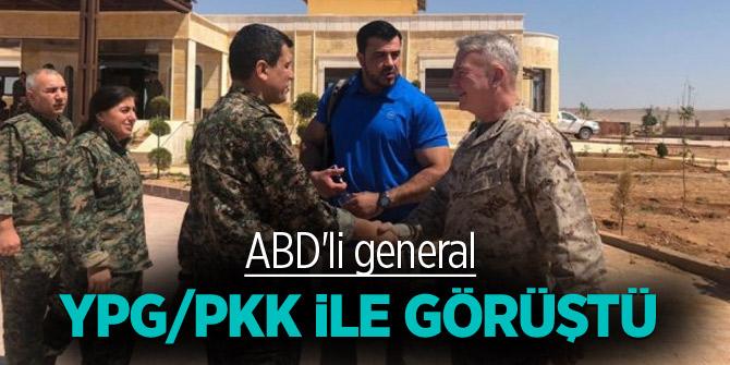ABD'li general terörist YPG/PKK ile görüştü