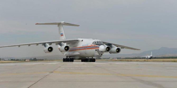 S-400 sevkiyatı sürüyor!  Uçak Mürted Hava Üssü'ne indi