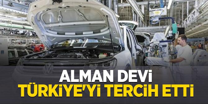 Dünya devi Volkswagen Türkiye'yi tercih etti!