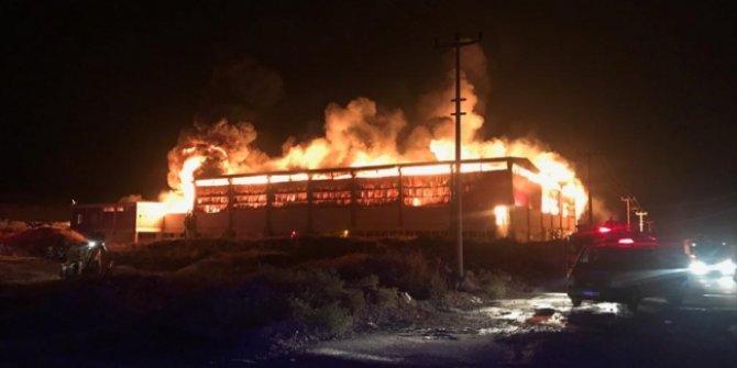 Gaziantep tekstil fabrikasında yangın