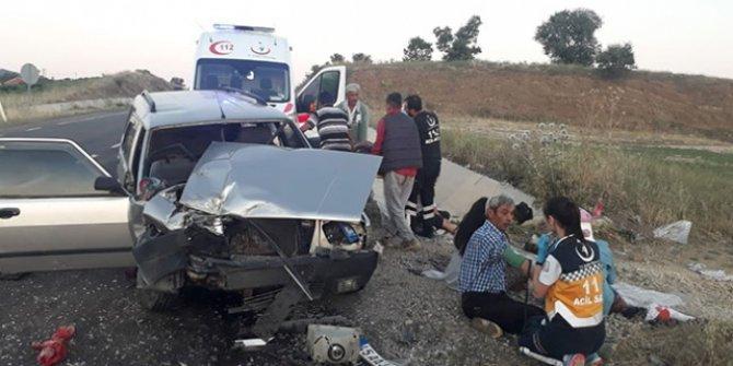 Manisa'nın Kula ilçesinde trafik kazası