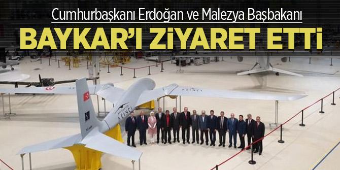 Cumhurbaşkanı Erdoğan ve Malezya Başbakanı, Baykar'ı inceledi
