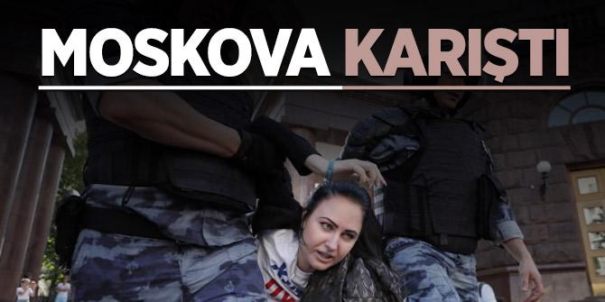 Moskova'da 500 kişi gözaltına alındı