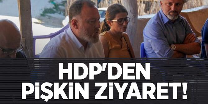HDP'den pişkin ziyaret!