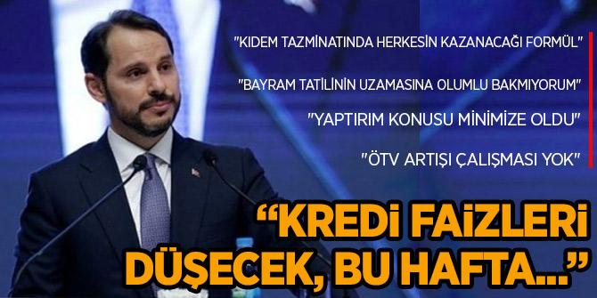 """Albayrak: """"Türkiye ilk kez yıllık cari fazla verecek"""""""