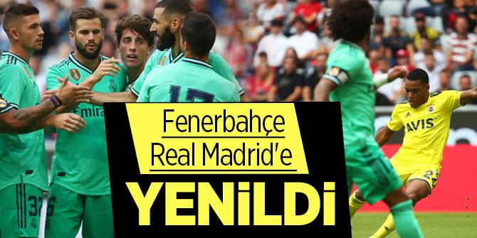Fenerbahçe Real Madrid'e yenildi ama fark yüksek değildi