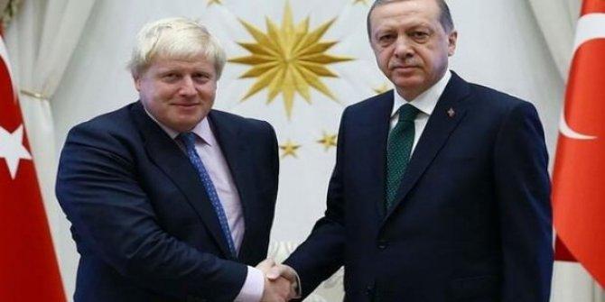 Cumhurbaşkanı Erdoğan, Boris Johnson'la görüştü