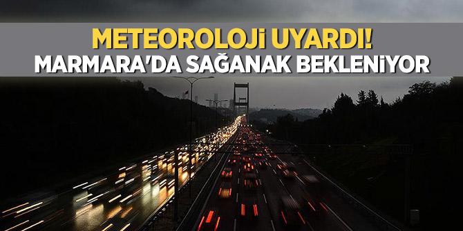Marmara'da gök gürültülü sağanak bekleniyor