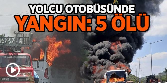 İvrindi ilçesinde seyir halindeki otobüs yandı: 5 ölü