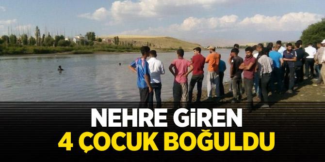 Nehre giren 4 çocuk boğuldu