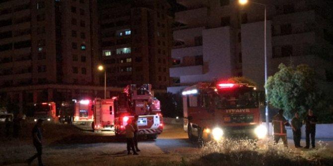 Bursa'da 15 katlı binada yangın