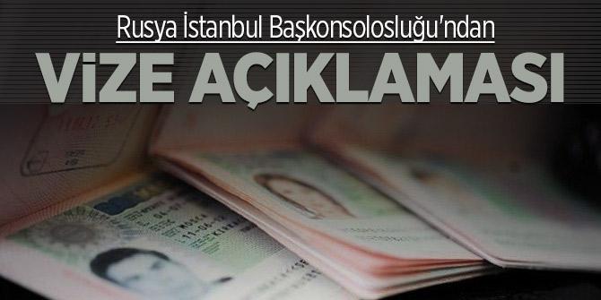 Rusya İstanbul Başkonsolosluğu'ndan vize açıklaması