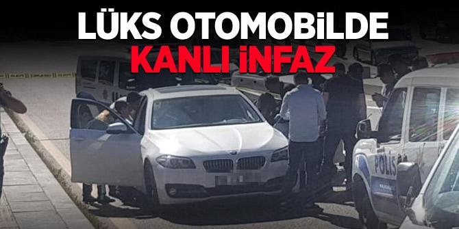 Ankara'da lüks otomobilde kanlı infaz