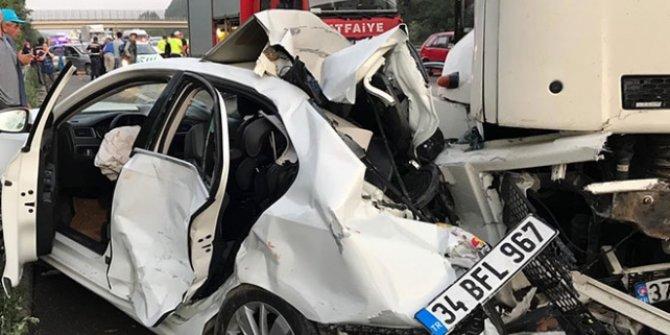 Anadolu Otoyolu'nda trafik kazası: 6 kişi yaralandı