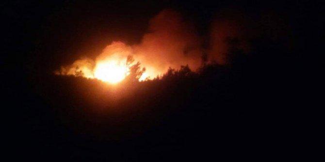 Çanakkale'de şehitliklerin yakınında yangın