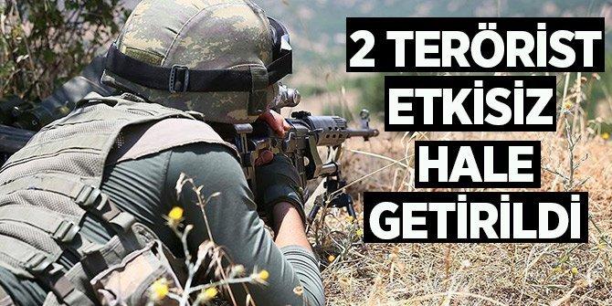 Hakkari'de 2 terörist daha etkisiz hale getirildi