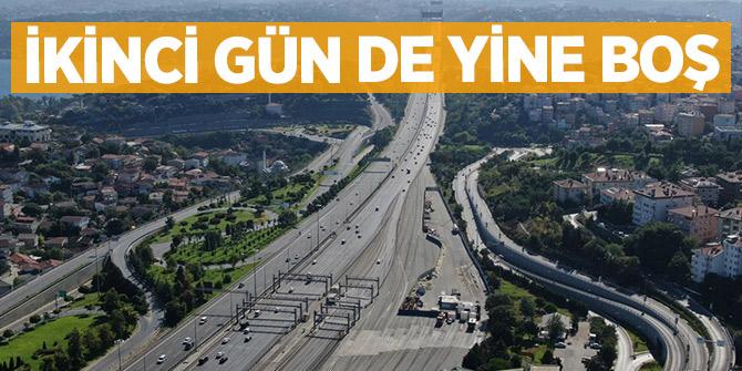İstanbul'un yolları boş kaldı!