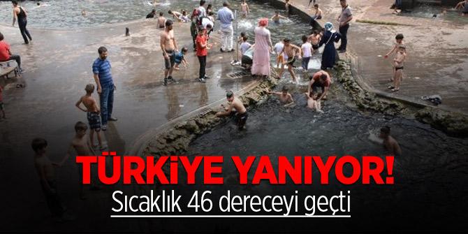 Türkiye yanıyor! Sıcaklık 46 dereceyi geçti