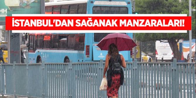 İstanbul'dan sağanak manzaraları!
