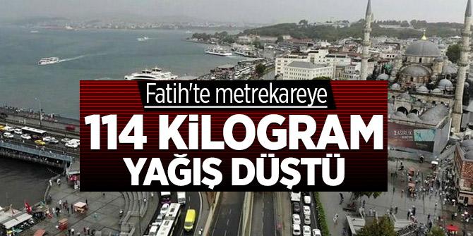 Fatih'te rekor yağış! Metrekareye 114 kiliogram yağış düştü