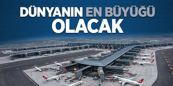 İstanbul Havalimanı'nda inşaat sürüyor