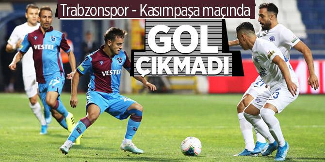 Trabzonspor - Kasımpaşa maçı berabere sonlandı