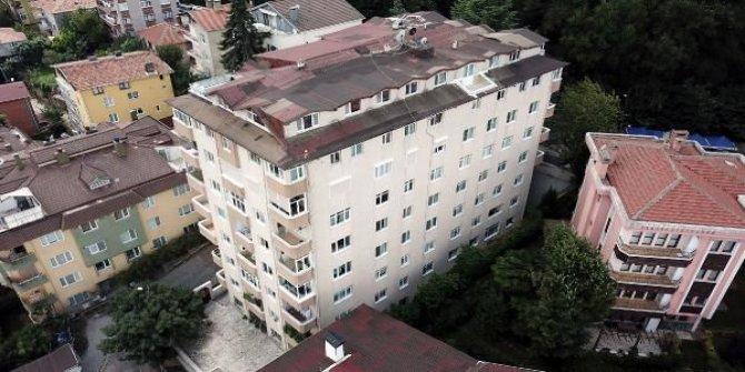 İstanbul'da 9 katlı binanın kolonları patladı