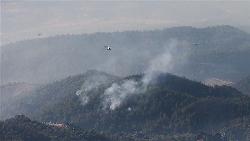 İzmir'deki orman yangınının genişlemesi durduruldu