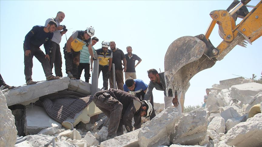 Esed rejimi ve Rusya'nın İdlib'e saldırıları devam ediyor! Ölüler ve yaralılar var...