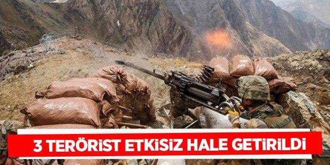 Mardin ve Diyarbakır'da 3 terörist etkisiz hale getirildi