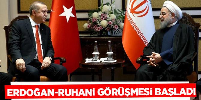 Erdoğan-Ruhani görüşmesi başladı!