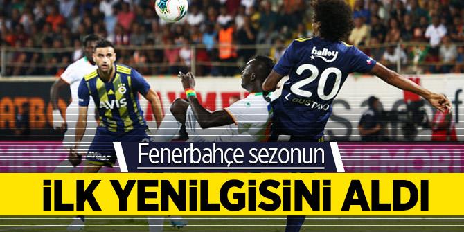 Fenerbahçe sezonun ilk yenilgisini aldı