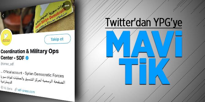 Twitter'dan YPG'ye mavi tik