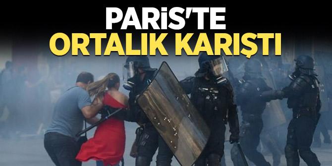 Paris'te ortalık karıştı