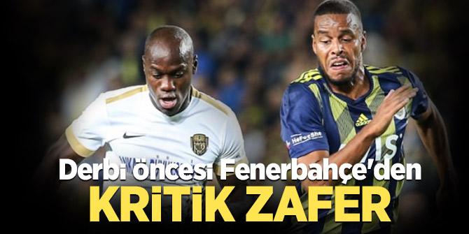 Derbi öncesi Fenerbahçe'den kritik zafer