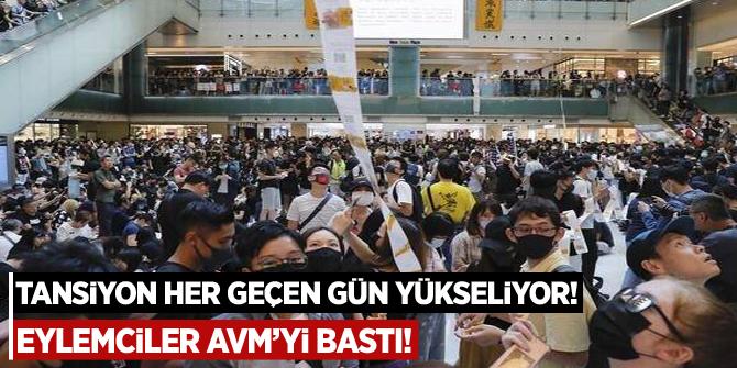 Tansiyon her geçen gün yükseliyor! Eylemciler AVM'yi bastı!