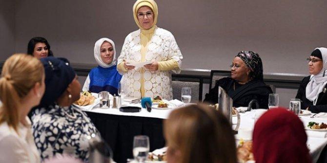 Emine Erdoğan, ABD'li Müslüman toplumun kadın temsilcileriyle bir araya geldi