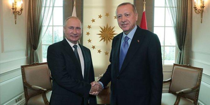 Erdoğan, Putin'le Suriye'yi görüştü