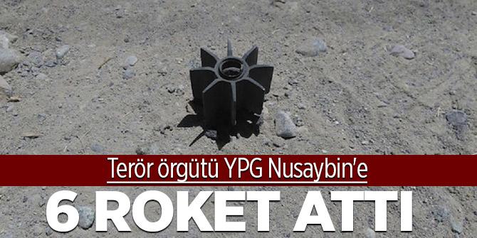 Terör örgütü YPG Nusaybin'e 6 roket attı