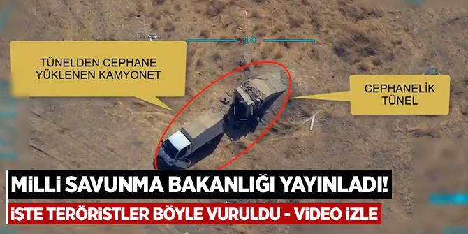 Milli Savunma Bakanlığı yayınladı! İşte teröristler böyle vuruldu - video izle