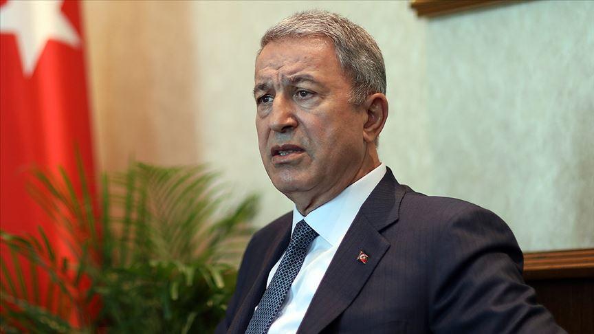 """Bakan Akar'dan 'Barış Pınarı Harekatı' açıklaması! """"Bizim için tek hedef teröristler"""""""
