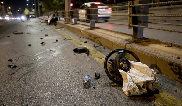 Ankara'da feci kaza! Direksiyon bile koptu