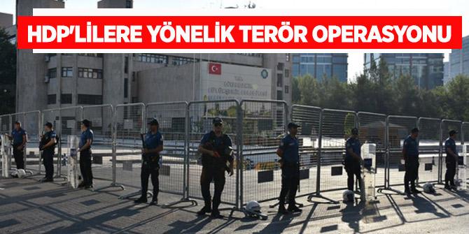 HDP'lilere yönelik terör operasyonu: 3 gözaltı