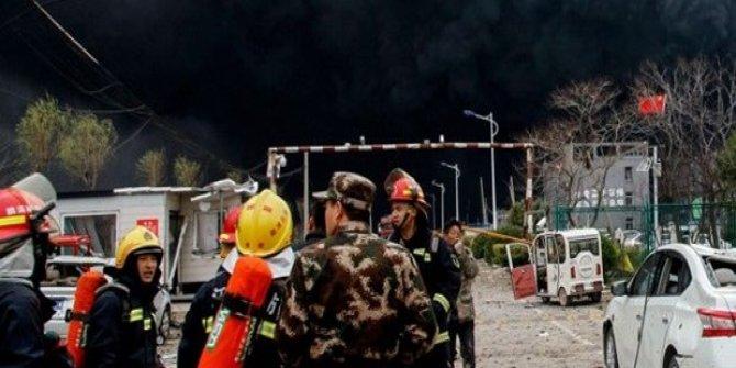 Çin'de Çelik Tesiste Yangın Çıktı