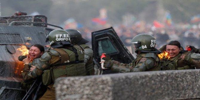Şili protestolarında polis şiddeti artıyor
