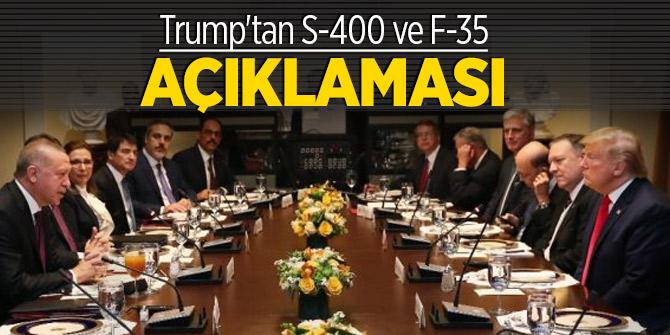 Trump'tan S-400 ve F-35 açıklaması