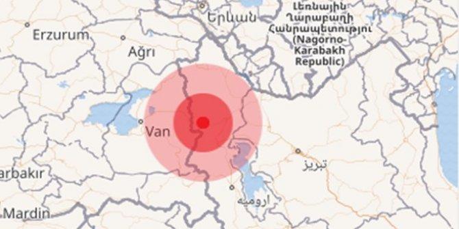 Türkiye-İran sınırında art arda deprem