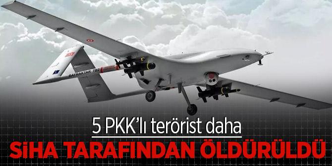 5 PKK'lı terörist daha SİHA tarafından öldürüldü